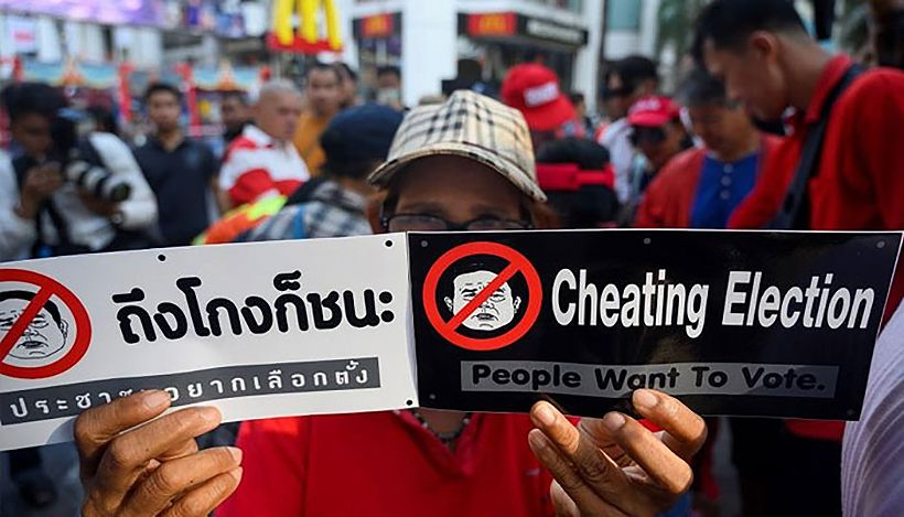 Protests demand results and transparency from the EC | The Thaiger