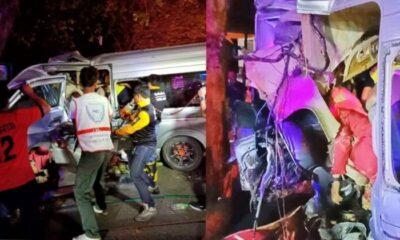 ไม่ถึงบ้าน รถตู้ครูนราธิวาสกลับจากมาเลย์ ชนต้นไม้ ดับ 4 ศพ | The Thaiger