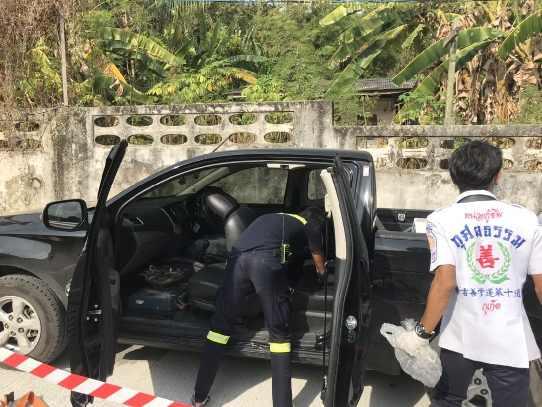 Man found dead in pickup with charcoal burner in Rassada, Phuket | News by Thaiger