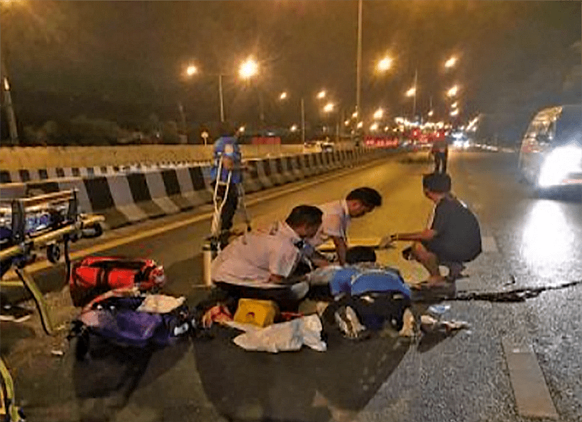Female motorbike driver dies in Bypass Road crash | The Thaiger