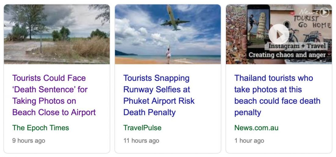 Fake news goes viral about 'death sentence' for Phuket airport selfies | News by The Thaiger