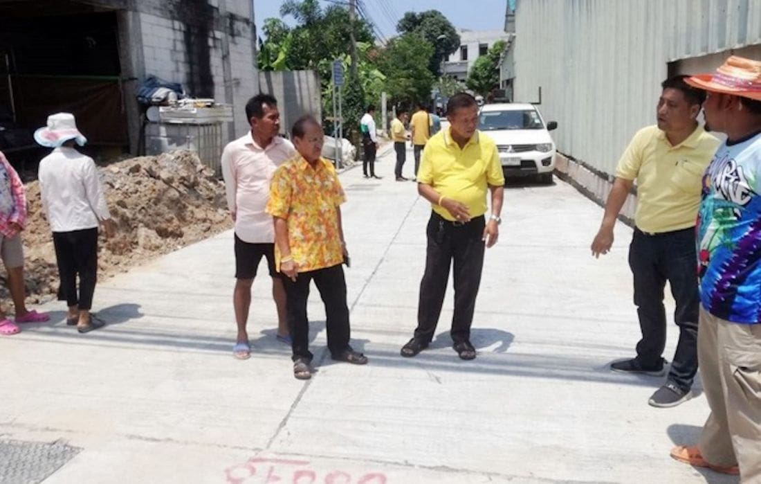 Three million baht Central Pattaya stormwater roadworks – FAIL | The Thaiger