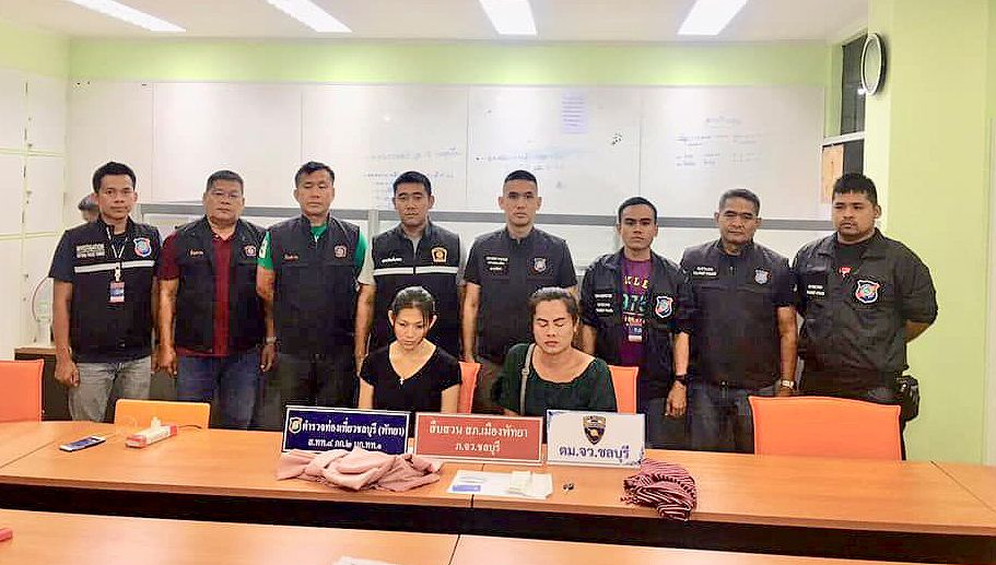 Pattaya ladyboys nabbed for stealing credit cards from South Korean tourist | The Thaiger