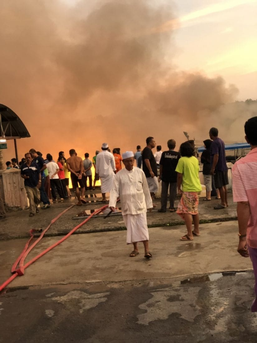 Eight fishing tour boats destroyed at southern pier   The Thaiger