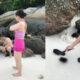 ห้ามไม่ฟัง! นทท.จีนเก็บหอยเม่นมาทุบบนเกาะหลีเป๊ะ เจ้าหน้าที่อุทยานฯเตรียมเอาผิด | The Thaiger