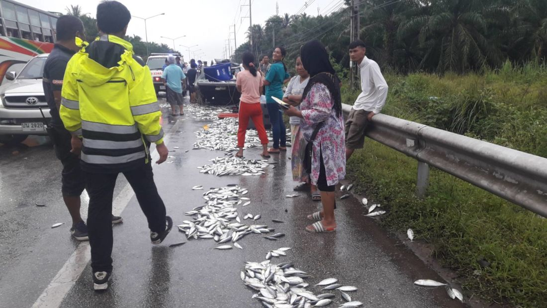 Three injured in fresh seafood pickup accident in Krabi | News by The Thaiger