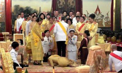 ปวงไทยปลื้มปีติ ภาพสมเด็จพระเจ้าอยู่หัวทรงทักทายพระบรมวงศานุวงศ์ ราชวงศ์จักรี | The Thaiger