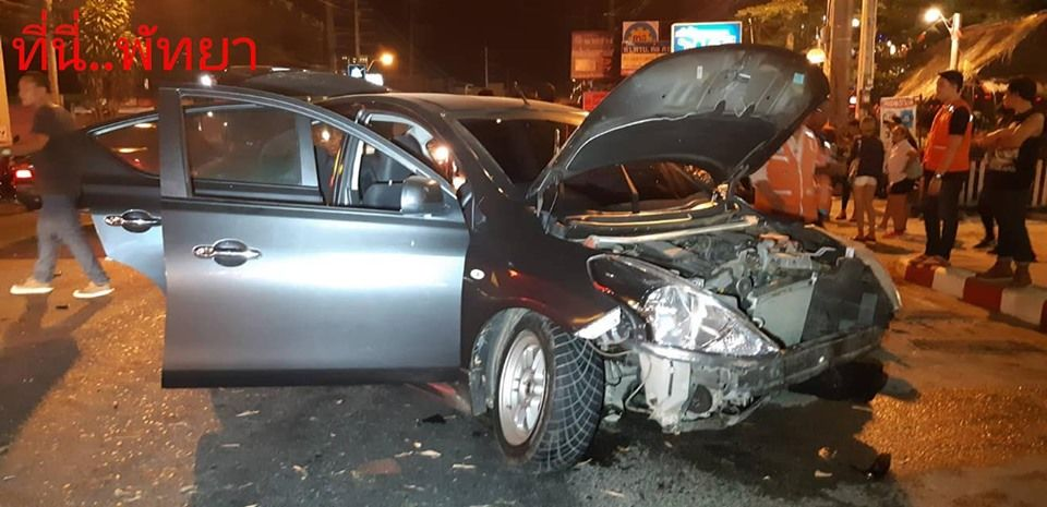 Eleven vehicles damaged in drunk driving incident in Pattaya   News by Thaiger