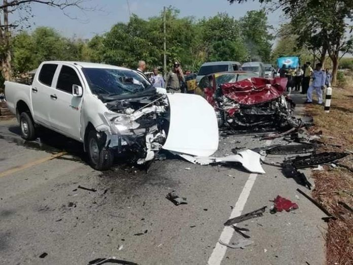 Police and passenger die in Phitsanulok collision | News by The Thaiger
