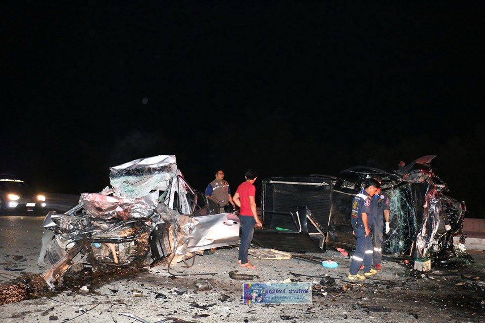 Navy officer and two others killed in Chon Buri road smash | The Thaiger