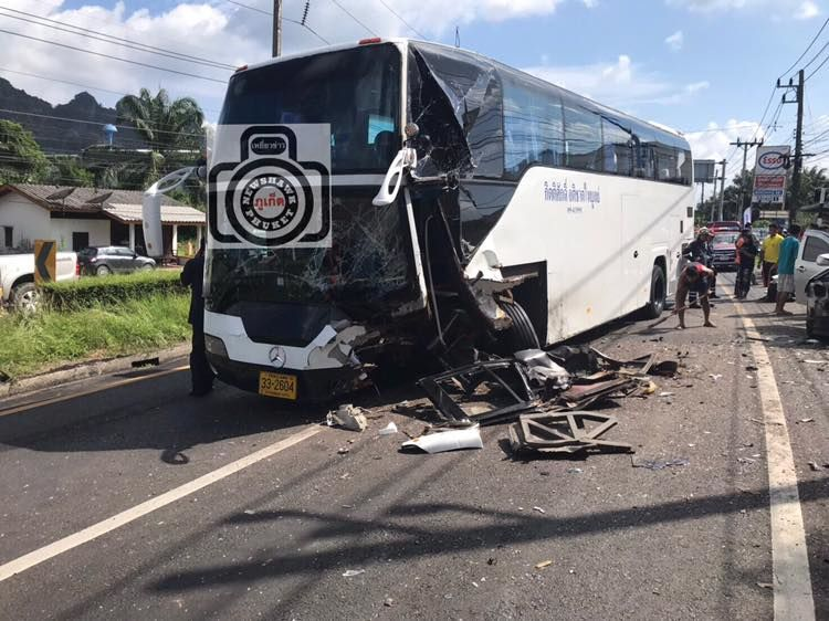 One dead, many injured in Phang Nga bus crash | The Thaiger