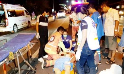 Two Chinese motorcyclists injured after they collided with power pole in Rawai | The Thaiger