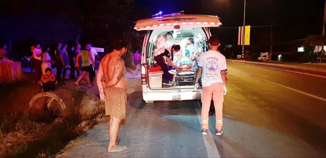 Two Chinese motorcyclists injured after they collided with power pole in Rawai | News by Thaiger