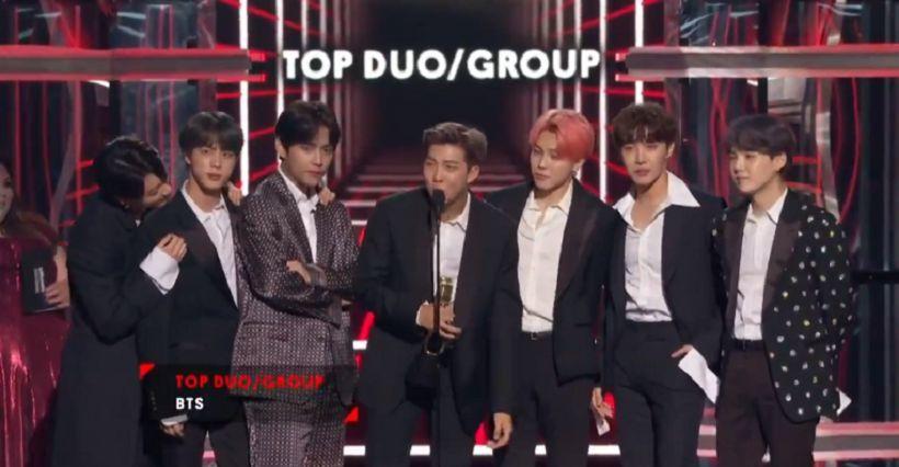 BTS สร้างประวัติศาสตร์ ชนะเลิศรางวัล  Top Duo/Group บนเวที The 2019 Billboard Music Awards   The Thaiger