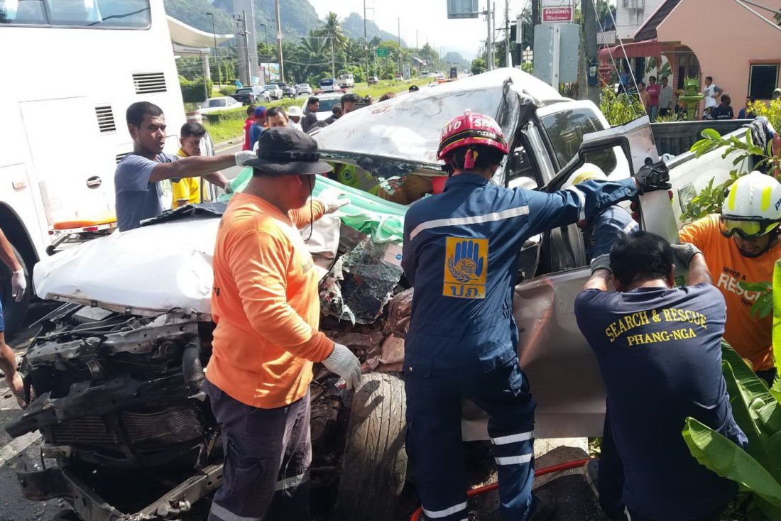 UPDATE: Total 4 deaths in Phang Nga Chinese tour bus crash | The Thaiger
