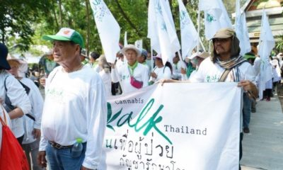 """Cannabis Walk Thailand"" heads south on its 268 kilometre march 