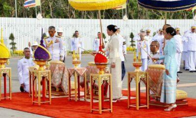 สมเด็จพระเจ้าอยู่หัว สมเด็จพระราชินีสุทิดา ถวายราชสักการะพระบรมราชานุสรณ์รัชกาลที่ 5 : บรมราชาภิเษก | The Thaiger