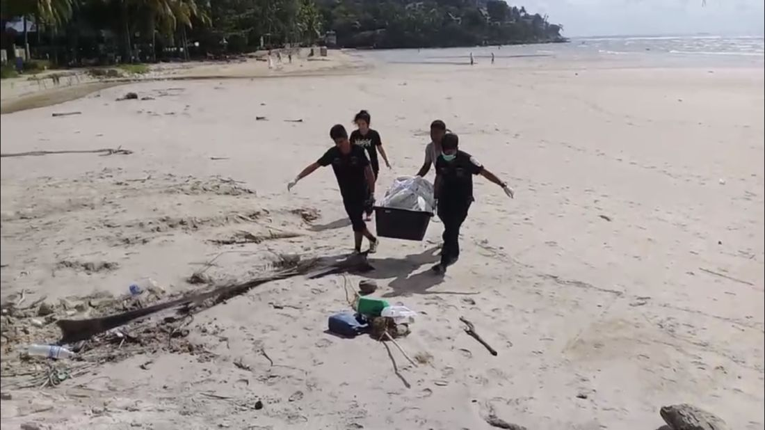 Garbage found inside a dead sea turtle on Kamala beach | News by The Thaiger