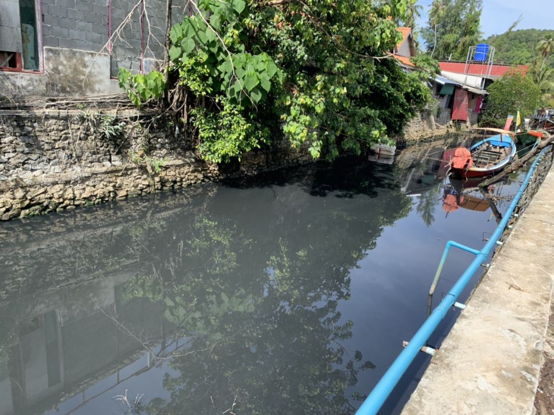 The blackwater is back at Bang Tao Canal - VIDEO | News by The Thaiger