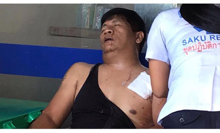 หนุ่มหัวร้อน! ใช้มีดแทงอริเจ็บ หลังต่อยสู้ไม่ได้ ปมทะเลาะในไลน์ | News by The Thaiger