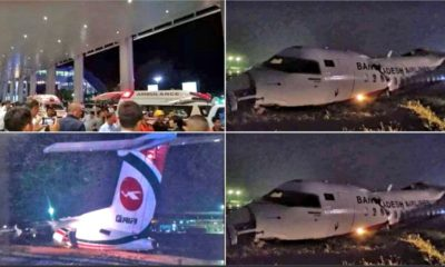 33 injured after Biman Air flight skids off Yangon Airport runway | The Thaiger