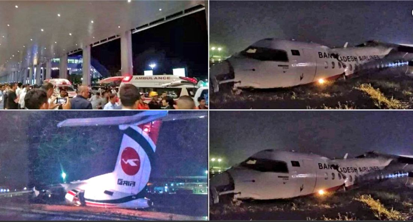 33 injured after Biman Air flight skids off Yangon Airport runway | The Thaiger