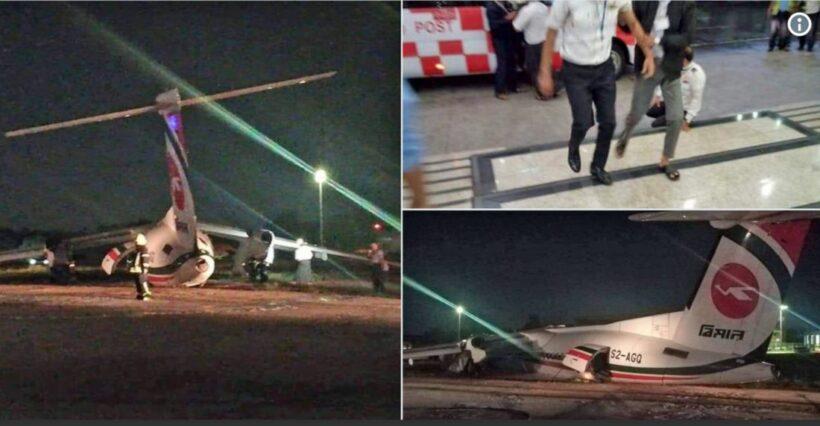 33 injured after Biman Air flight skids off Yangon Airport runway   News by Thaiger