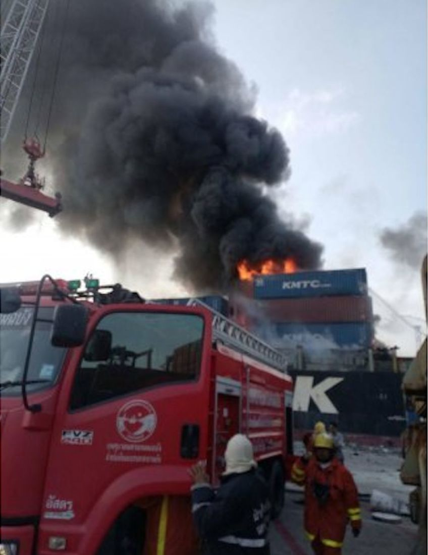 25 workers injured after container explosion at Laem Chabang Port | News by The Thaiger