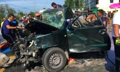 เมืองคอน ชนสนั่น 7 คันซ้อน ตาย 1 เจ็บ 9 | The Thaiger