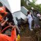 รถตู้วงดนตรีชื่อดัง ประสบอุบัติเหตุชนรถท้ายกระบะบรรทุกปาล์ม กระเด็นตกถนน | The Thaiger