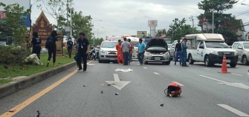 Motorbike rider dies near Rama 5 bridge in Nonthaburi | News by The Thaiger