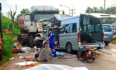 Head-on collision kills five, injures three in Khon Kaen | The Thaiger
