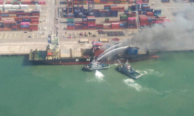 Toxic chemicals responsible for port fire and evacuation of locals | The Thaiger