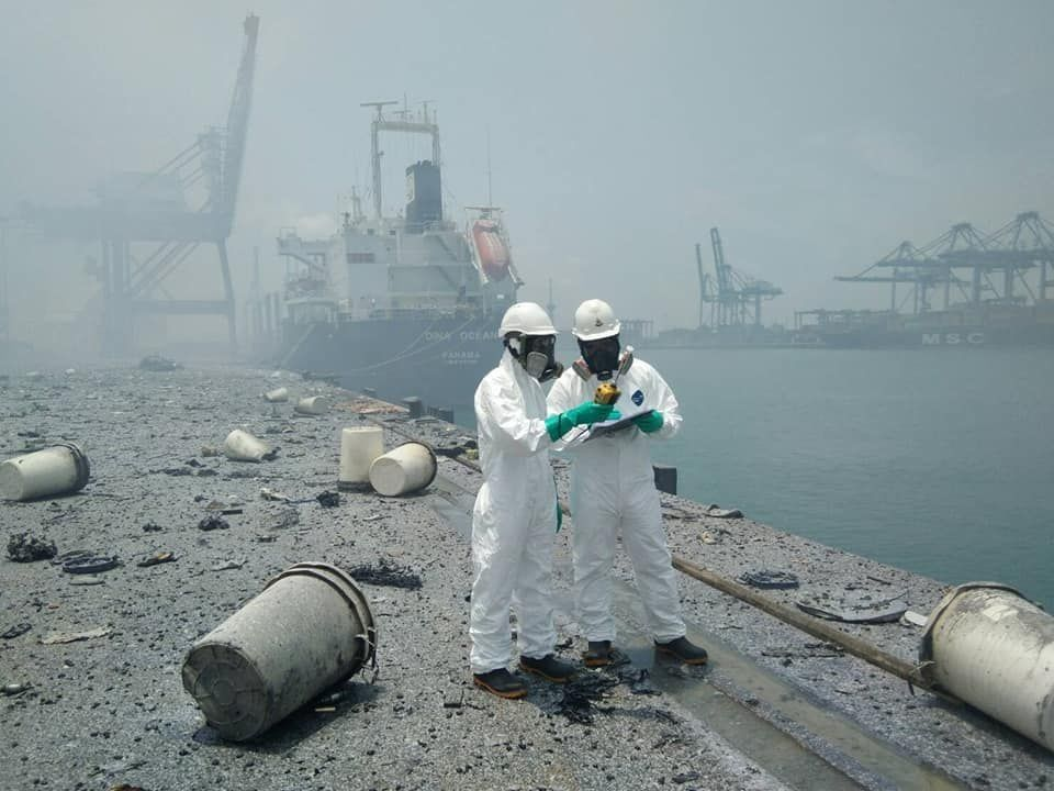 Toxic chemicals responsible for port fire and evacuation of locals   News by Thaiger