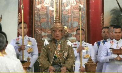 พระบาทสมเด็จพระเจ้าอยู่หัวทรงสวมพระมหาพิชัยมงกุฎ พระราชทานพระปฐมบรมราชโองการ | The Thaiger