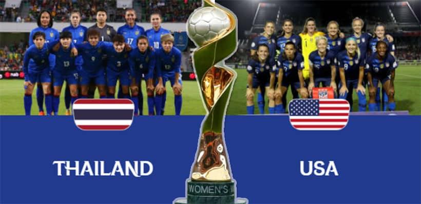 """10 มิ.ย. ถ่ายทอดสด """"ฟุตบอลโลกหญิง 2019"""" ไทยพบสหรัฐ ตี 2 -PPTVHD ยิงตรงจากสนาม   The Thaiger"""