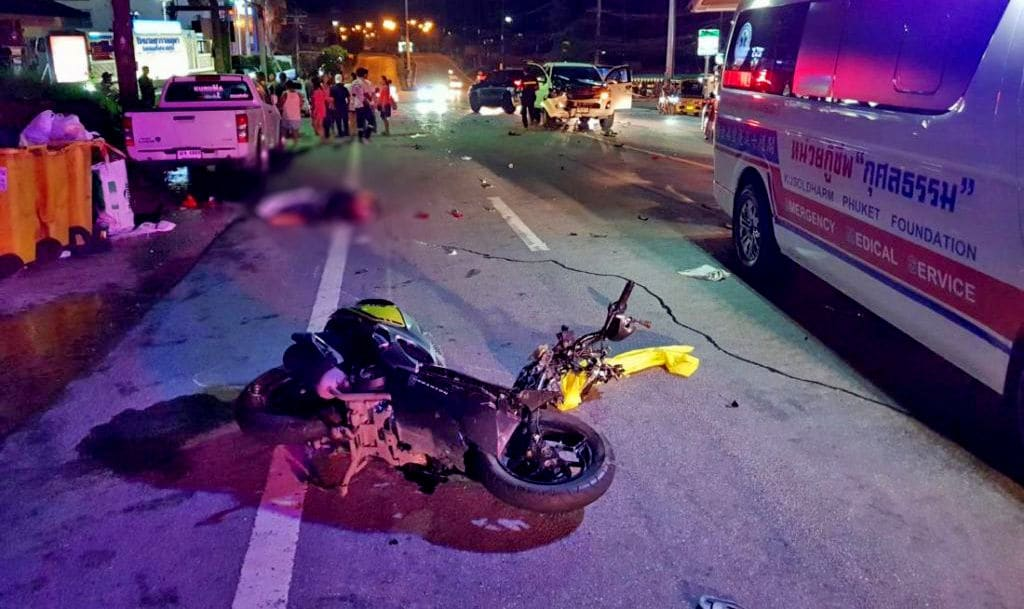 German motorbike driver dies on Patong Hill, Phuket | The Thaiger