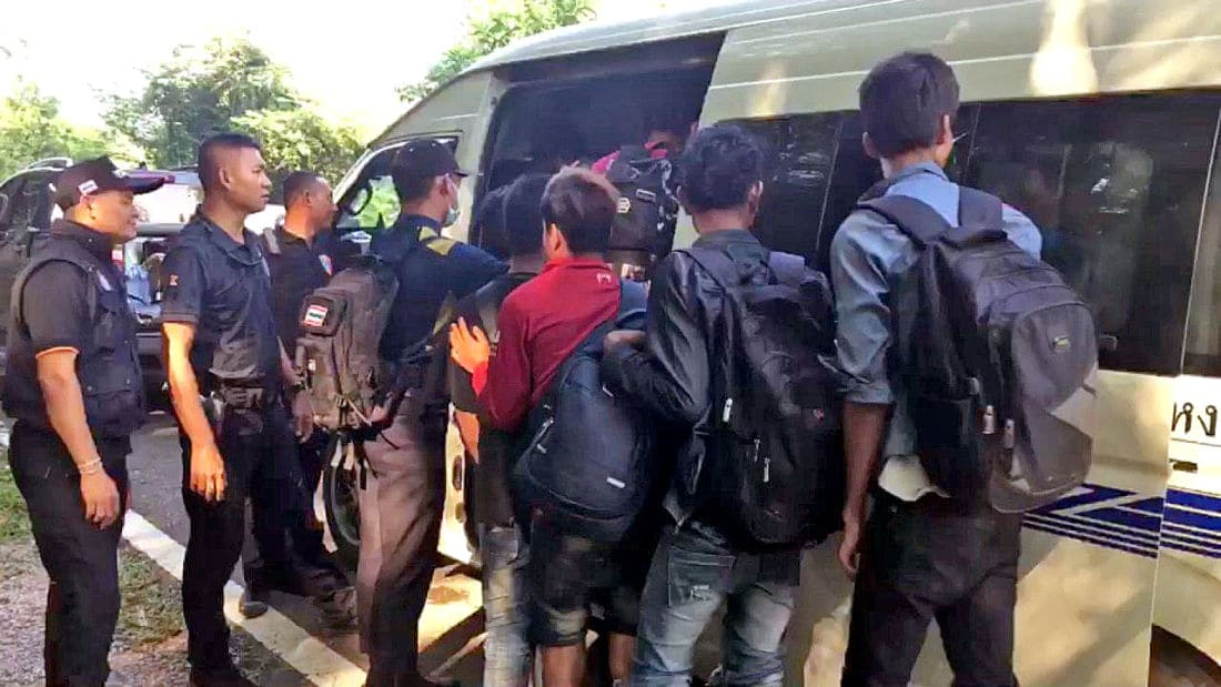 Seven arrested over trafficking of Burmese migrants into Thailand | The Thaiger