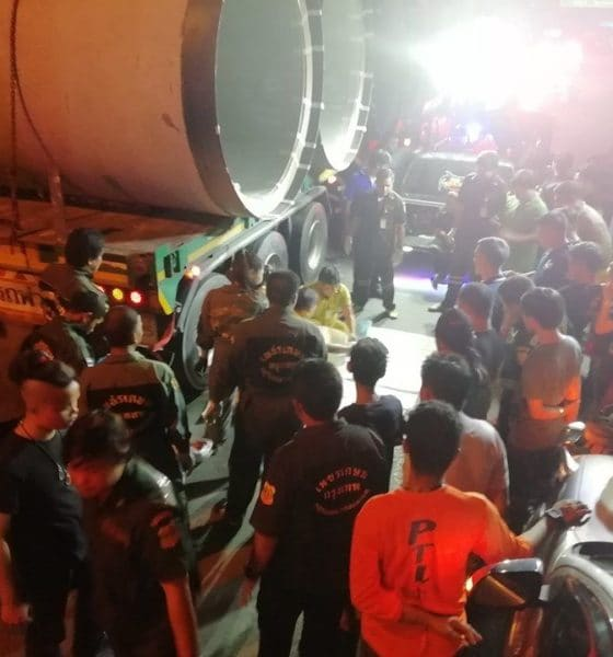 Motorbike passenger dies, crushed under truck in Bangkok   The Thaiger