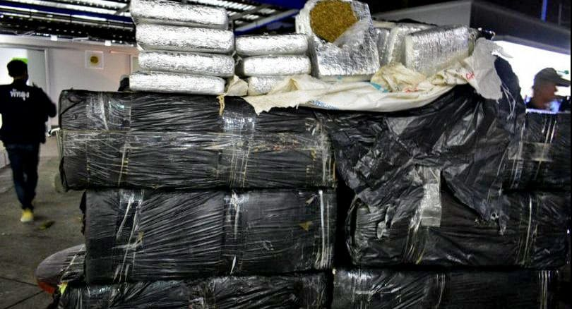 Four arrested as police intercept 572 kilograms of marijuana heading south | The Thaiger