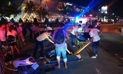 Three injured in motorbike accident in Phuket Town | The Thaiger