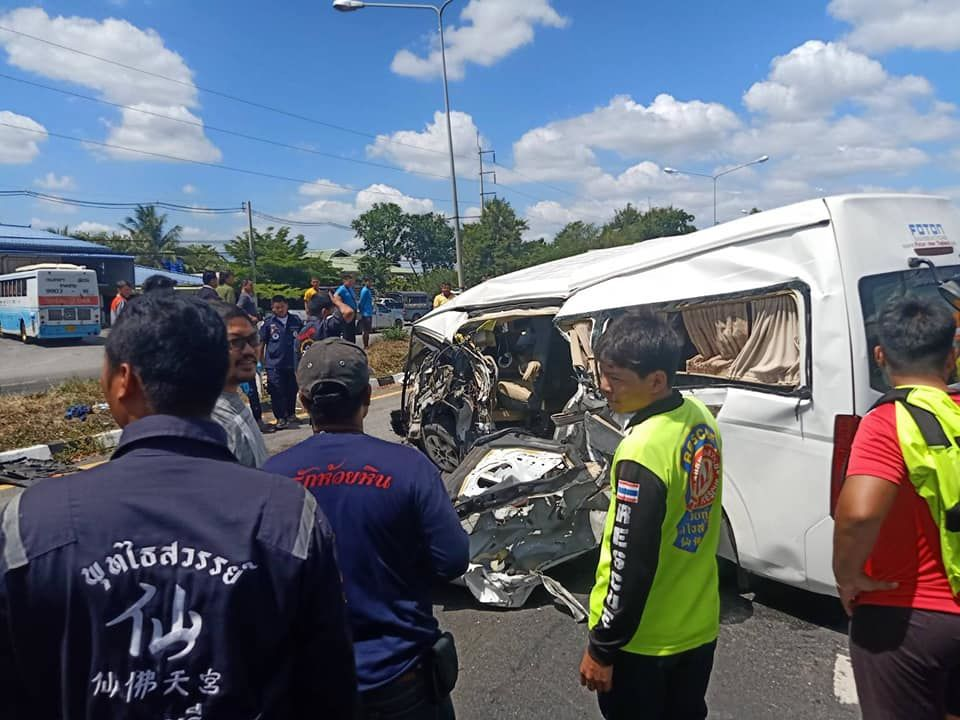 Norwegian man seriously injured after van collides with a truck in Lopburi   News by Thaiger