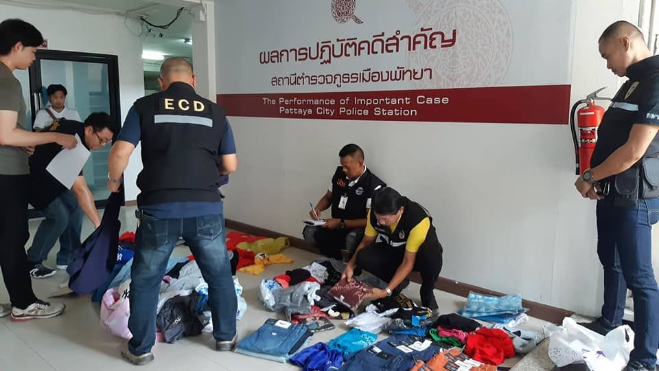 Counterfeit clothing seized in Pattaya raid | The Thaiger