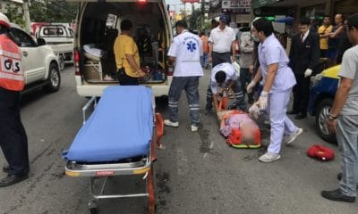 Pedestrian and motorbike driver injured in Pattaya collision | The Thaiger