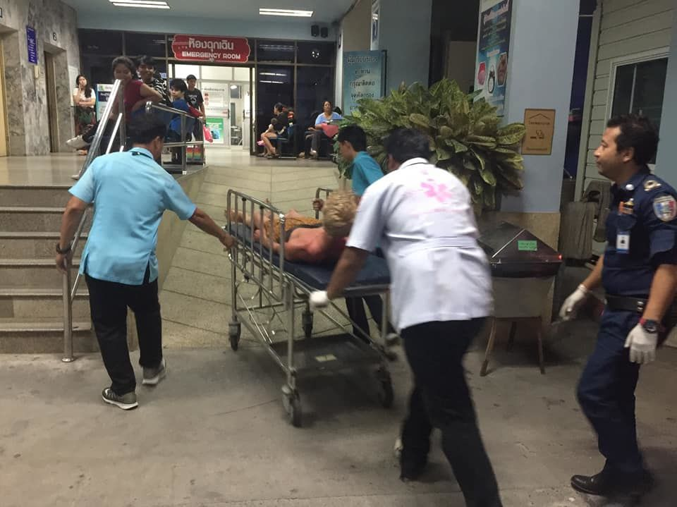 Naked foreigner caught, taken to Chonburi Hospital   News by Thaiger