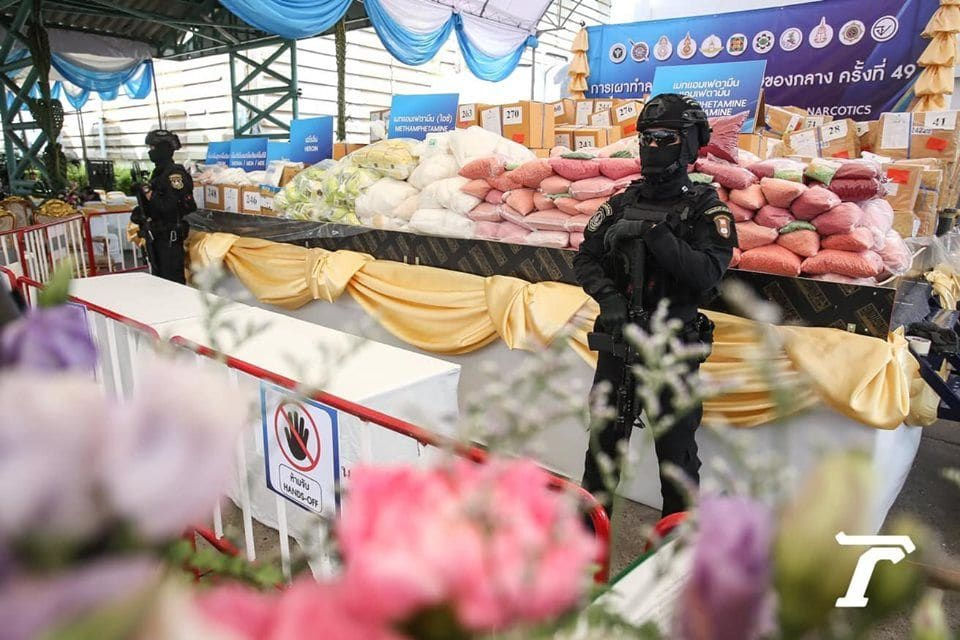 16,467 kilograms of drugs destroyed on International Day against Drug Abuse | News by Thaiger
