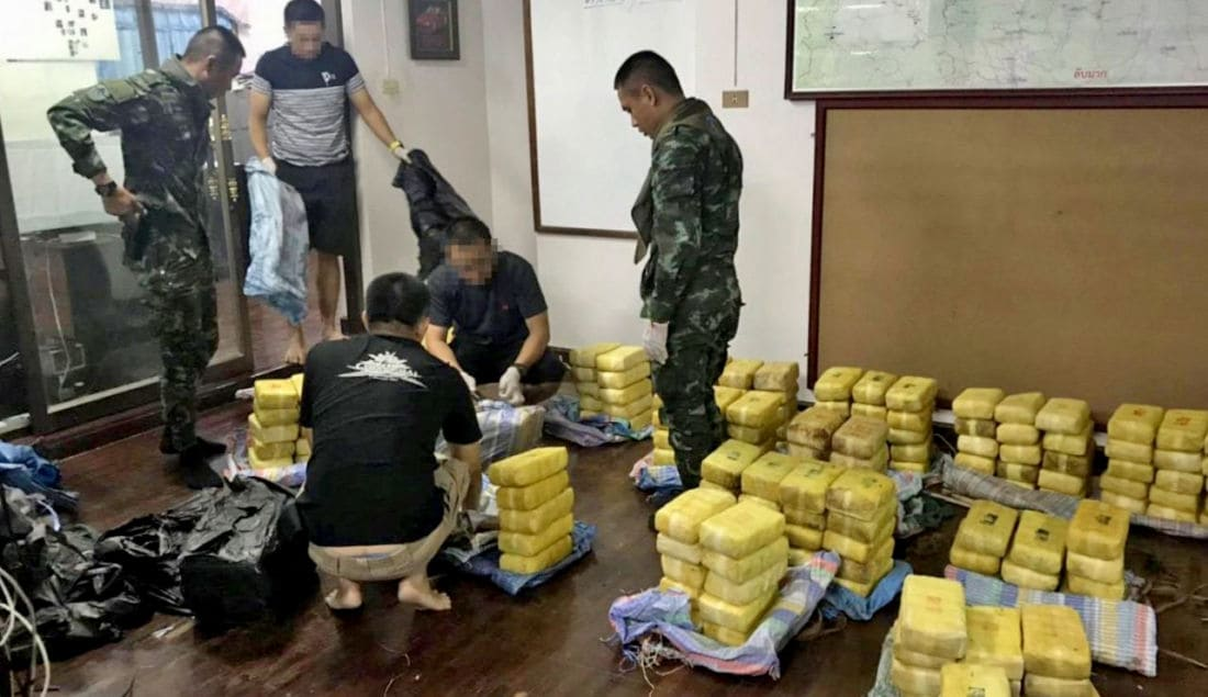 Drug smugglers get away but police seize their pickup stuffed with meth pills and 'ice' | News by The Thaiger