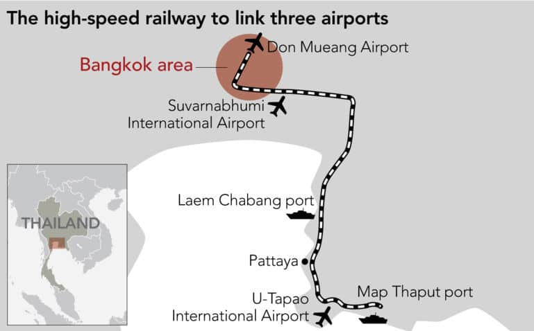 High-speed rail airport link contracts to be signed next month | News by Thaiger