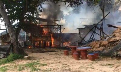 Fire destroys restaurant on Koh Lanta, Krabi – VIDEO | The Thaiger