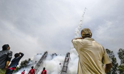 Wayward rocket lands in passenger seat of pick-up in Roi-et during annual rocket festival | The Thaiger